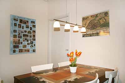 appartement city13 essbereich lampen