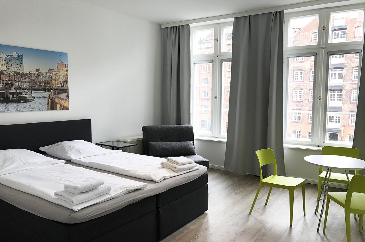 appartement 8erdeck erstes doppelzimmer boxspring doppelbett