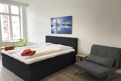 appartement 8erdeck zweites doppelzimmer schlafsessel wasserblick