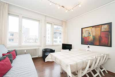 appartement city14 wohnzimmer essbereich