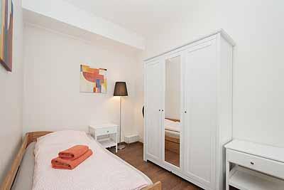 appartement city14 zusatzzimmer einzelbett schrank
