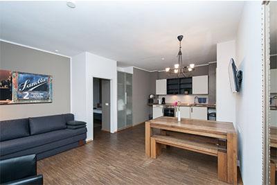 appartement lounge wohnraum kueche
